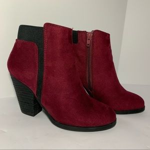 Mix No. 6 (DSW) Acosa Berry Faux Suede Booties 6